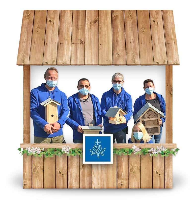 Alternativer Frühlingsmarkt Gremsdorf und virtueller Online-Frühlingsmarkt von Barmherzige Brüder mit Insektenhotels, Brutkästen, Vogelhäusern bei Werky Behindertenwerkstatt kaufen