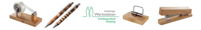 Steinhöringer Werkstätten Schreibtischutensilien aus Holz und Büroaccessoires aus Holz| Werky
