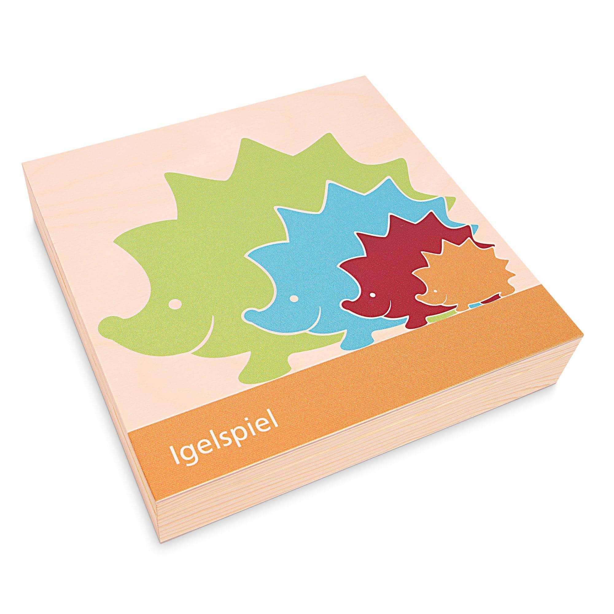 igel puzzle pädagogisches spielzeug zum zahlen lernen und