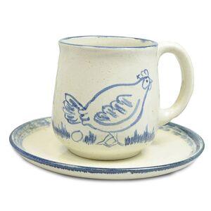 """Kleines Kinder-Gedeck aus Keramik """"Katze"""", handgemacht-Greifenwerkstatt-werky"""