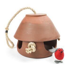 Vogelfutterhaus zum Hängen aus Keramik-Greifenwerkstatt-werky