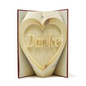 """Gefaltetes Buch - 3D Buchkunst """"Danke""""-Greifenwerkstatt-werky"""