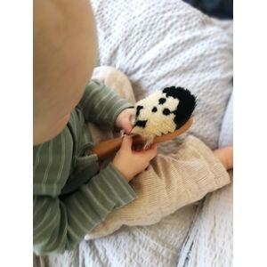 Baby-Flauschbürste aus weichem Ziegenhaar handgemacht-NIKOmanufakt-werky