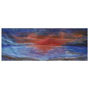 """Acryl-Malerei auf Leinwand """"Die Dämmerung"""", Unikat, 38 x 100 cm-Greifenwerkstatt-werky"""