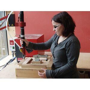 Zeitungsrolle aus Holz Handgemacht (Lärchenholz, massiv) für Briefkasten-Ruperti Werkstätten-werky