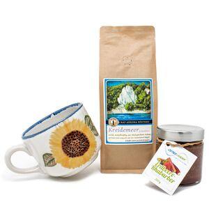 Geschenk-Set mit Kaffee, Kaffee-Pott & BIO-Fruchtaufstrich-Greifenwerkstatt-werky