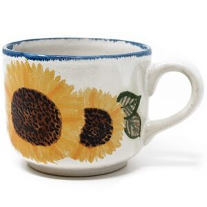 Großer Kaffee-Pott aus Keramik - handbemalt-Greifenwerkstatt-werky