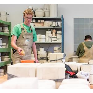 """Kleines Kinder-Gedeck aus Keramik """"Huhn"""", handgemacht-Greifenwerkstatt-werky"""